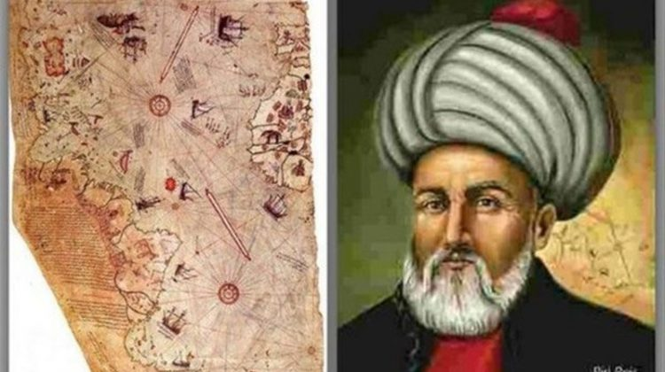 Coğrafya ve harita uzmanı ünlü Türk denizci Piri Reis'in 1513'te çizdiği Afrika, Amerika ve Güney Kutbu'nu gösteren harita ortalığı karıştırdı.